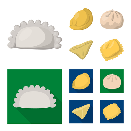 Isolated object of products  and cooking symbol. Collection of products  and appetizer stock symbol for web.