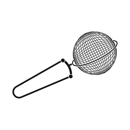 Vector design of strainer and tea. Collection of strainer and tool  stock symbol for web.