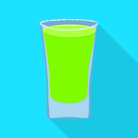 Vector illustration of glass and water  icon. Set of glass and clear stock symbol for web.