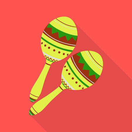 Vector design of maraca and instrument  symbol. Collection of maraca and mexican    vector icon for stock.