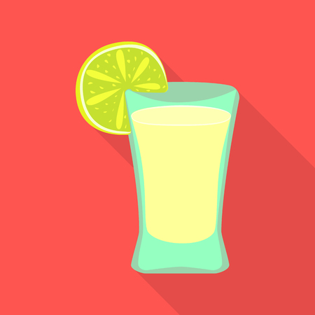 Isolated object of cocktail and glass symbol. Collection of cocktail and lemon vector icon for stock.