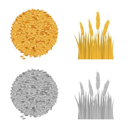 Vector design of agriculture and farming logo. Set of agriculture and plant  vector icon for stock.