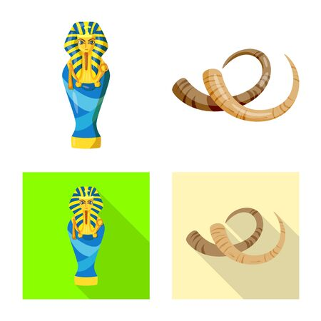 Vector design of story and items symbol. Collection of story and attributes  vector icon for stock. Illustration