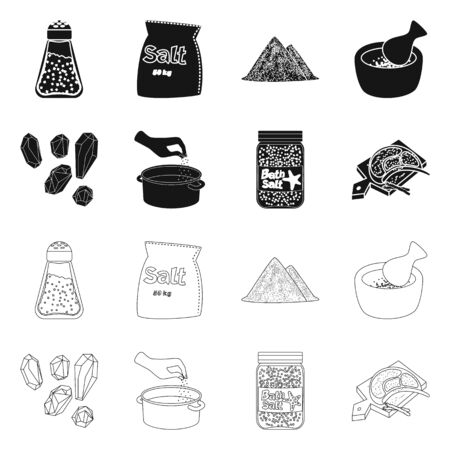 Vector design of cooking and sea icon. Set of cooking and baking   stock vector illustration. Illustration