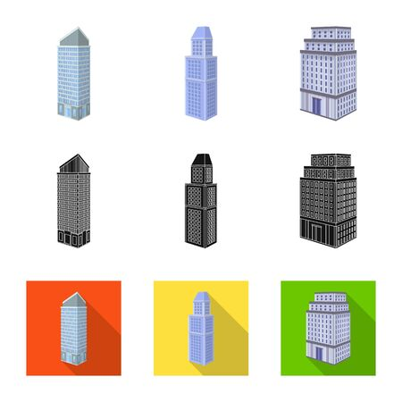 Isolated object of construction and building icon. Set of construction and estate stock vector illustration. Illustration