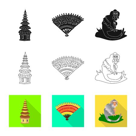 Vector design of  and travel icon. Set of  and traditional stock symbol for web.