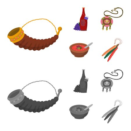 Isolated object of culture and sightseeing symbol. Set of culture and originality vector icon for stock.