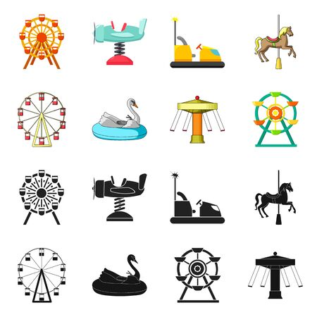 Isolated object of fun and horse  icon. Collection of fun and circus vector icon for stock. Reklamní fotografie - 124473861