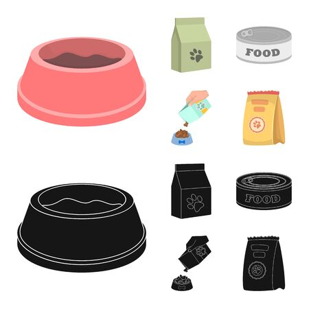 Vector design of food  and tin symbol. Collection of food  and bottle vector icon for stock.