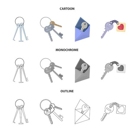 Vector illustration of key  and protection logo. Set of key  and security stock vector illustration. Illustration