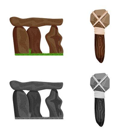 Vector design of evolution  and prehistory sign. Set of evolution  and development  stock symbol for web.