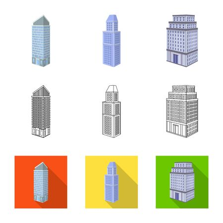 Vector design of construction and building icon. Collection of construction and estate vector icon for stock. Illustration