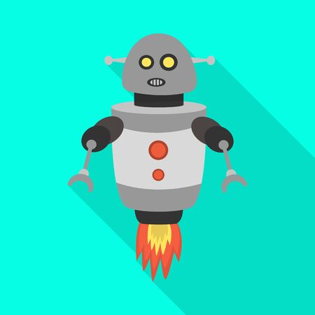 Vector design of robot and program icon. Collection of robot and cyborg vector icon for stock.