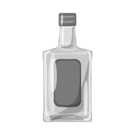 Vector design of bottle and alcohol logo. Set of bottle and vodka  vector icon for stock.
