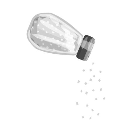Vector design of bottle  and salt logo. Set of bottle  and pack  stock vector illustration.