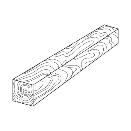 Vector design of timber and piece icon. Set of timber and section  stock vector illustration.