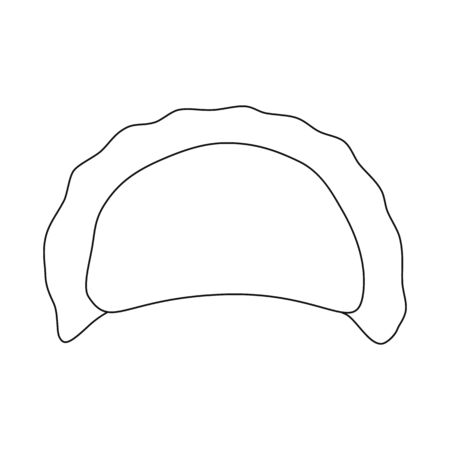 Vector design of pierogi and Russian symbol. Set of pierogi and breakfast  vector icon for stock.