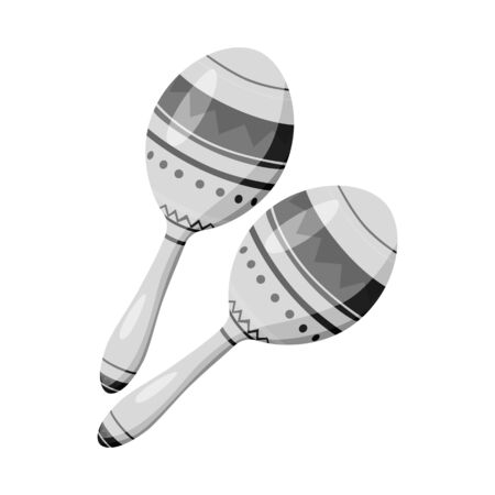 Vector design of maraca and instrument  logo. Collection of maraca and mexican    vector icon for stock.