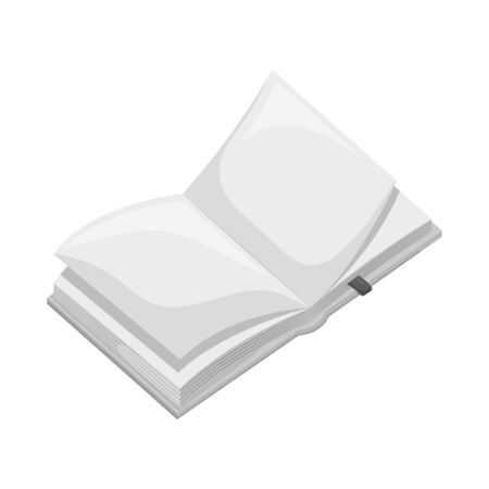 Isolated object of book  and open logo. Set of book  and content  vector icon for stock.