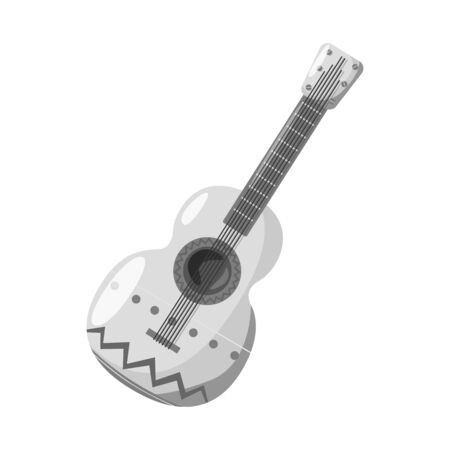 Isolated object of guitar  and ornament  logo. Collection of guitar  and folk stock symbol for web.