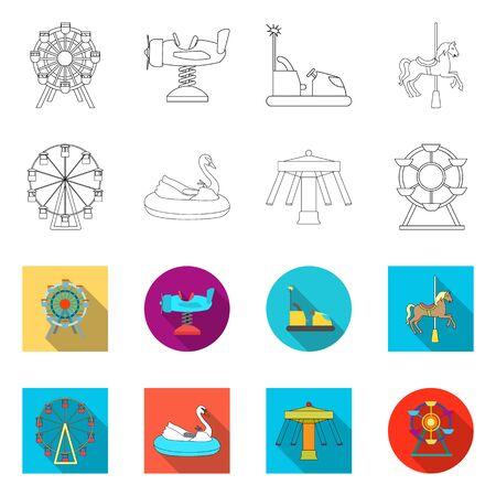 Vector design of fun and horse  logo. Set of fun and circus stock symbol for web. Reklamní fotografie - 124565817