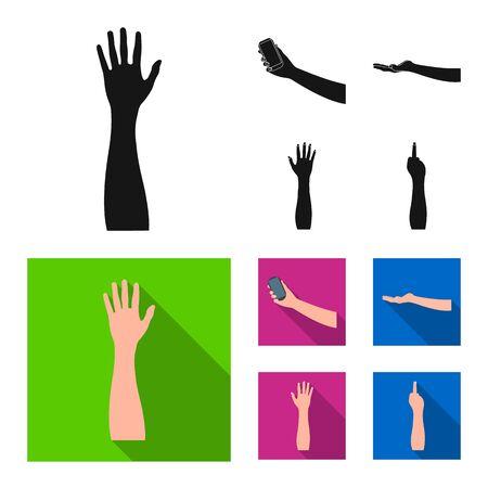 Illustration vectorielle et icône animée. Ensemble de symbole boursier et brachioplastie pour le web. Vecteurs