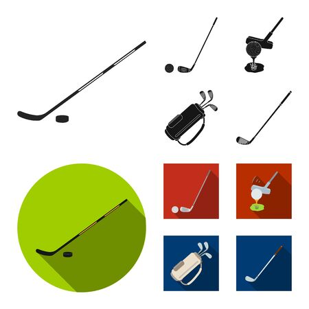 Vector design of  and stick symbol. Set of  and golf  vector icon for stock.