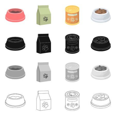 Vector design of food  and tin icon. Set of food  and bottle stock vector illustration. Stock Illustratie