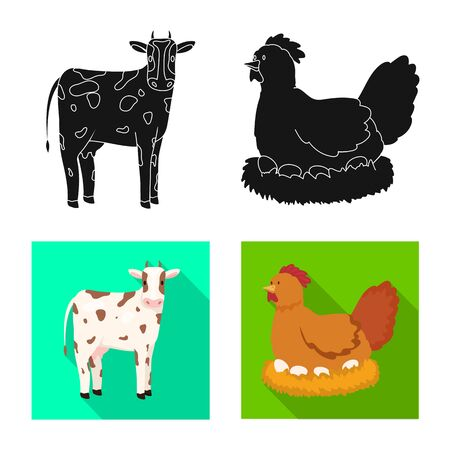 Vector design of breeding and kitchen  symbol. Collection of breeding and organic  vector icon for stock.