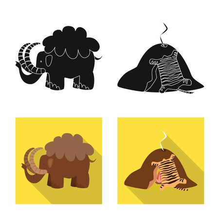 Vector design of evolution  and prehistory icon. Collection of evolution  and development  stock vector illustration.