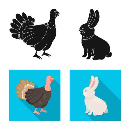 Vector illustration of breeding and kitchen  icon. Set of breeding and organic  stock symbol for web.