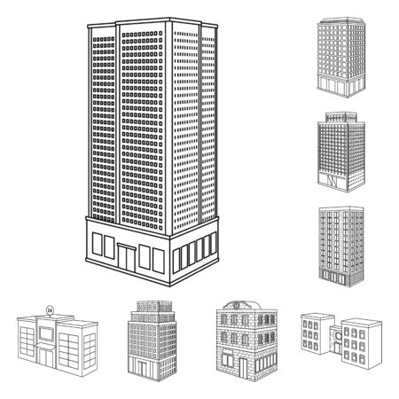 Vector design of home and apartment icon. Set of home and modern stock symbol for web. Illustration