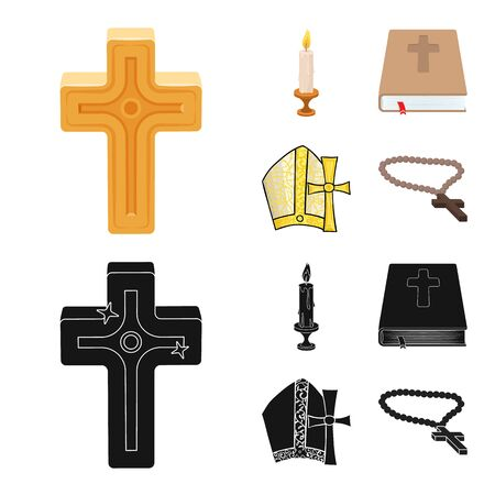 Vector design of muslim and items symbol. Set of muslim and candle vector icon for stock.