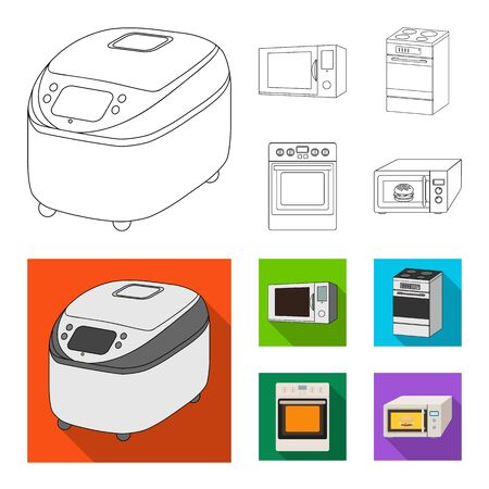 Vector design of food and inside icon. Collection of food and cooker stock vector illustration.