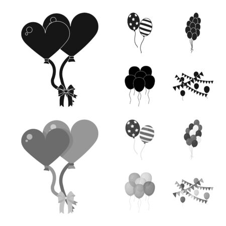 Vector illustration of happy and fun sign. Collection of happy and balloon stock symbol for web.
