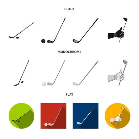 Vector design of  and stick sign. Set of  and golf  vector icon for stock. Illustration