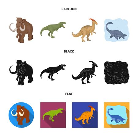Vector illustration of animal and character symbol. Collection of animal and ancient  vector icon for stock. Ilustração