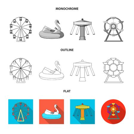 Vector illustration of fun and horse  logo. Collection of fun and circus stock vector illustration. Illustration