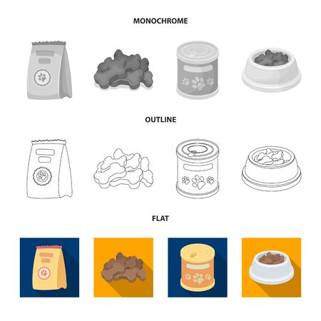 Isolated object of food  and tin icon. Collection of food  and bottle vector icon for stock.