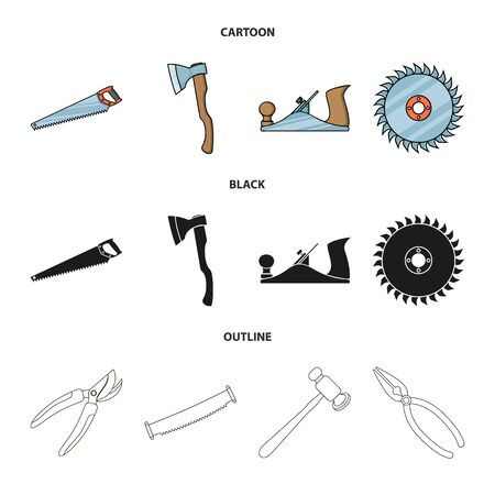 Vector design of tool and construction icon. Set of tool and carpentry vector icon for stock.