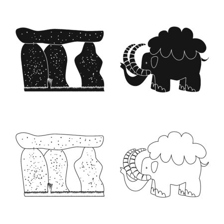 Vector illustration of evolution  and prehistory icon. Collection of evolution  and development  stock vector illustration.