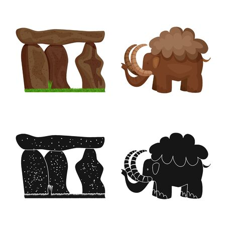 Isolated object of evolution  and prehistory icon. Collection of evolution  and development  vector icon for stock. Çizim