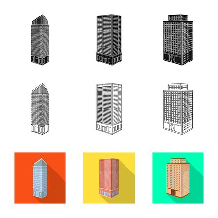 Isolated object of construction and building icon. Collection of construction and estate vector icon for stock. Illustration