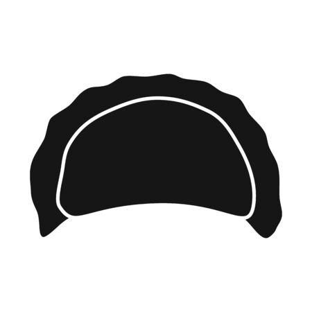Vector design of pierogi and Russian symbol. Set of pierogi and breakfast  vector icon for stock. Stock Vector - 124689683