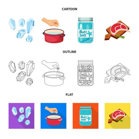 Vector design of cooking and sea icon. Set of cooking and baking   vector icon for stock.