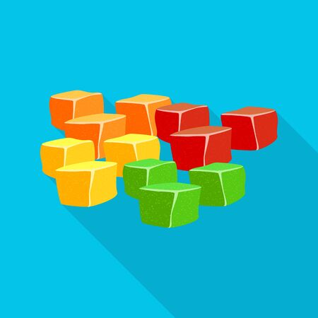 Isolated object of candied and jelly sign. Set of candied and bright vector icon for stock.