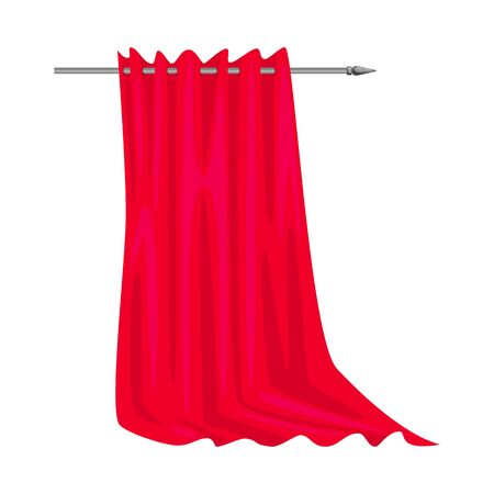 Vector illustration of curtain  and silk symbol. Set of curtain  and drape vector icon for stock. Illustration