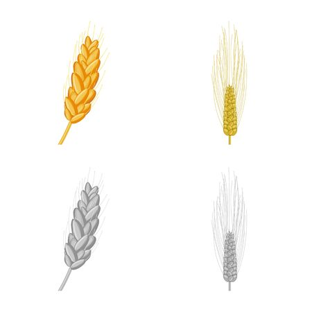 Vector illustration of agriculture and farming sign. Set of agriculture and plant  stock vector illustration.