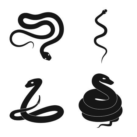 Ilustración de vector de símbolo de la naturaleza y la medicina. Conjunto de símbolo de la naturaleza y el mal para la web.