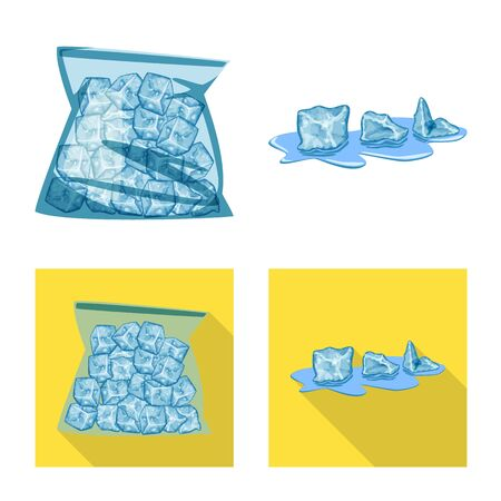 Vector design of texture  and frozen  sign. Collection of texture  and transparent  stock vector illustration.